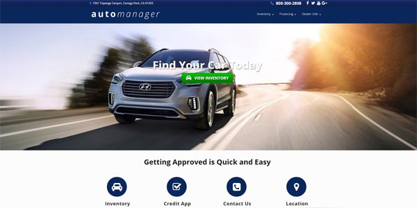 Responsive Auto Dealer Websites - AutoManager ®