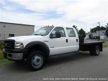 2007 Ford F-450 Super Duty XL Turbo Diesel Dually Heavy Duty Crew Cab Flat Bed Truck