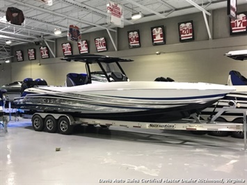 2018 Sunsation CCX 32 Ft Center Console Step Hull Performance Twin Mercury 400 Verado Outboard Boat