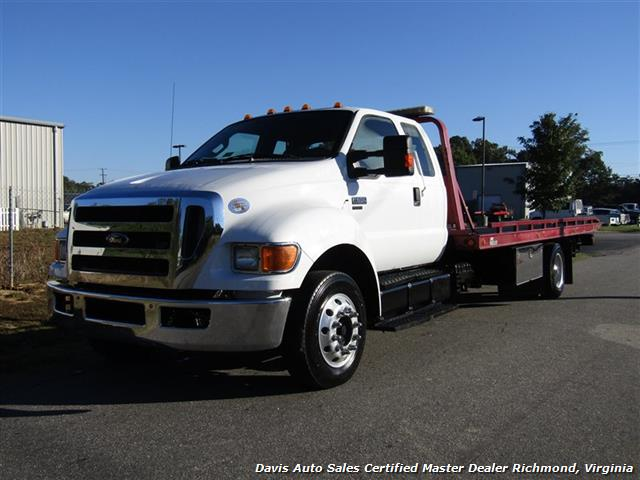 2011 Ford F-650 Super Duty XLT Pro Loader Quad Cab Roll Back Wrecker Tow Flat Bed - Photo 1 - Richmond, VA 23237