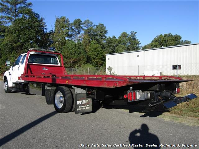 2011 Ford F-650 Super Duty XLT Pro Loader Quad Cab Roll Back Wrecker Tow Flat Bed - Photo 3 - Richmond, VA 23237