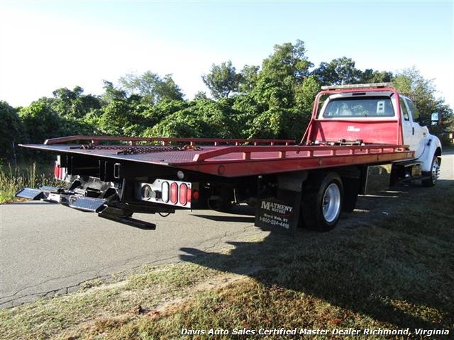 2011 Ford F-650 Super Duty XLT Pro Loader Quad Cab Roll Back Wrecker Tow Flat Bed - Photo 35 - Richmond, VA 23237