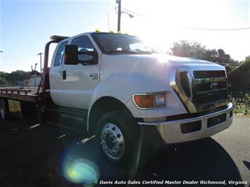 2011 Ford F-650 Super Duty XLT Pro Loader Quad Cab Roll Back Wrecker Tow Flat Bed - Photo 33 - Richmond, VA 23237