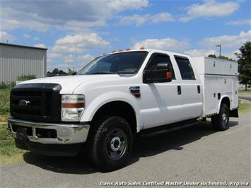 2008 Ford F-350 Super Duty XL 4X4 Twin Turbo Diesel Crew Cab Utility Bin Body Work Truck