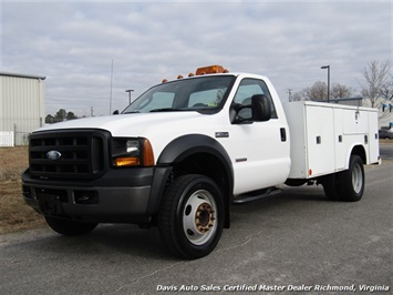 2006 Ford F-450 Super Duty XL Diesel Dually Regular Cab Reading Utility Bed Truck