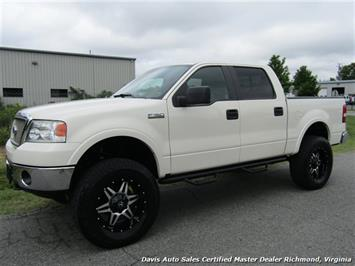 2008 Ford F-150 Platinum Pearl White Lariat Lifted 4X4 Crew Cab SB Truck