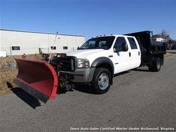 2006 Ford F-550 Super Duty XL 4X4 Diesel Crew Cab Dump Truck Snow Plow Truck