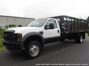 2008 Ford F-550 Super Duty XL Regular Cab Flatbed Stake Body Truck