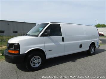 2003 Chevrolet Express Extended Cargo G 3500 Dual Fuel Commercial Work Van