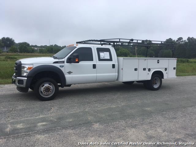 2015 Ford F-450 Super Duty XL 4X4 Diesel 6.7 Dually Crew Cab Utility Work Bin Body - Photo 1 - Richmond, VA 23237