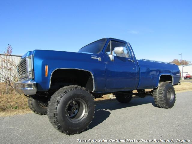 1979 chevrolet scottsdale c k10 lifted 4x4 square body regular cab long bed. Black Bedroom Furniture Sets. Home Design Ideas