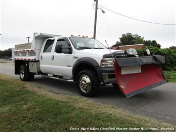 2005 Ford F-550 Super Duty XL Diesel 4X4 Dually Crew Cab Dump Bed Snow Plow - Photo 33 - Richmond, VA 23237