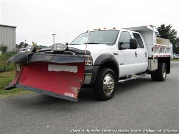 2005 Ford F-550 Super Duty XL Diesel 4X4 Dually Crew Cab Dump Bed Snow Plow Truck