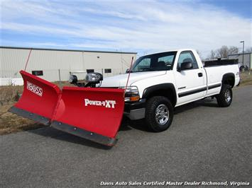 2001 Chevrolet Silverado 2500 LS Regular Cab LB 4X4 Snow Plow Salt Spreader Work Truck