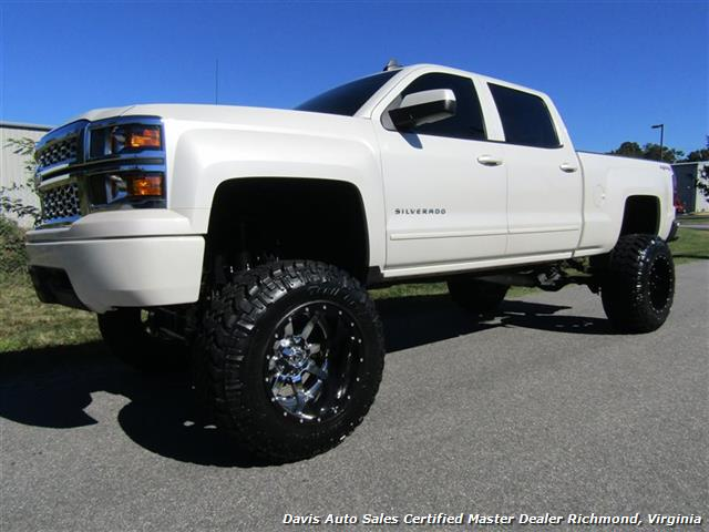 2015 Chevy Silverado Lifted >> 2015 Chevrolet Silverado 1500 Lt Z71 Pearl 4x4 Full Size Crew Cab Lifted