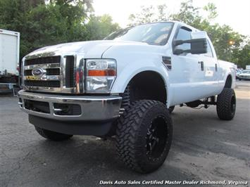 2009 Ford F-350 Powerstroke Diesel Lifted Crew Cab Lariat 4x4 Truck