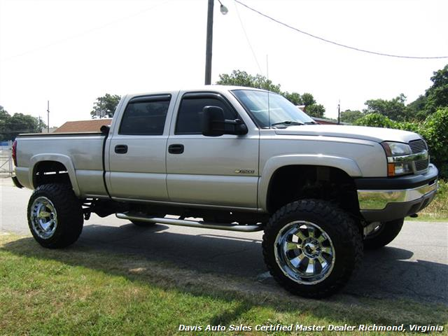 2004 chevrolet silverado 2500 hd ls lifted 4x4 crew cab short bed vortec. Black Bedroom Furniture Sets. Home Design Ideas