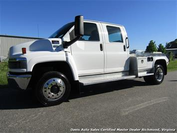2004 GMC Topkick C4500 6.6 Duramax Turbo Diesel Allison Crew Cab Custom Hauler Bed Truck