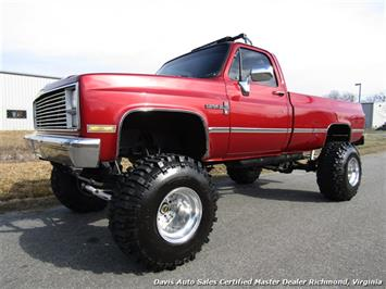 1984 Chevrolet Silverado Custom Deluxe C K 10 Lifted 4X4 Regular Cab Long Bed Classic Truck
