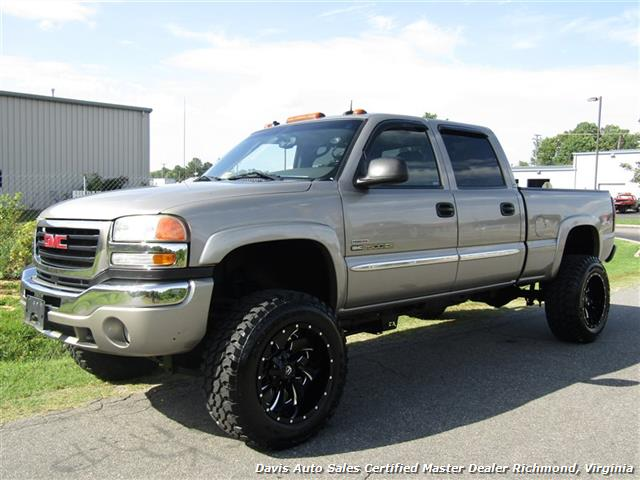 2003 gmc sierra 2500 hd slt 6 6 duramax diesel lifted 4x4 crew cab sb. Black Bedroom Furniture Sets. Home Design Ideas