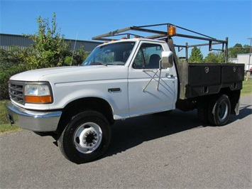 1997 Ford F450 Super Duty Regular Cab Flatbed Utility Commercial Truck