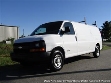 2006 Chevrolet Express G 3500 6.6 Diesel Duramax Extended Length Cargo Commercial Work Van