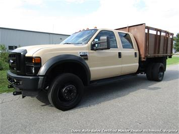 2008 Ford F-450 Super Duty XL Diesel Crew Cab Flat Bed Stake Body Dump Truck Truck