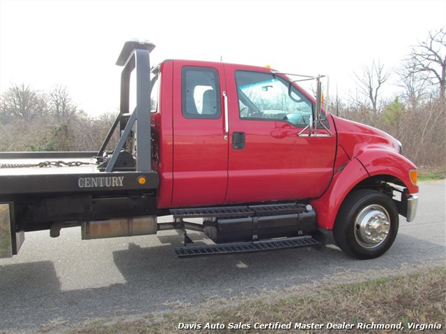 Ford F  Super Duty Xlt Rollback Wrecker Tow Truck Extended Cab