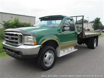 2003 Ford F-550 Super Duty Diesel XLT Regular Cab Flat Bed Dually Truck