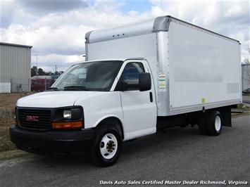 2011 GMC Savana 3500 Cargo 16 Foot Commerical Work Supreme Box Cube Van Walk Ramp Truck