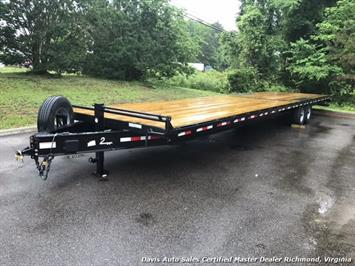 2016 Down To Earth 38 Foot Flat Deck Car Hauling Equipment Trailer
