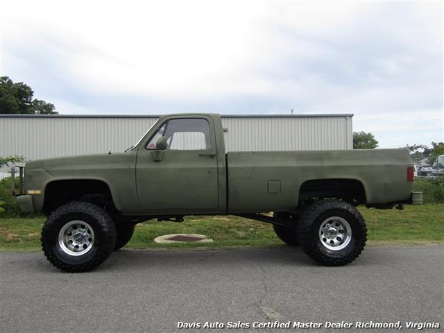 Chevy Military Trucks For Sale >> 1985 Chevrolet D30 K30 Military Unit Lifted 4x4 Regular Cab
