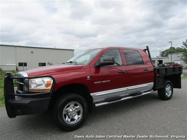 2006 Dodge Ram 3500 SLT 5.9 Cummins Turbo Diesel 4X4 Mega Cab Flat Bed - Photo 1 - Richmond, VA 23237