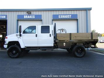 2006 GMC Topkick Kodiak C K 5500 6.6 Duramax Diesel Lifted 4X4 Crew Cab Flat Bed HD - Photo 2 - Richmond, VA 23237