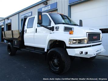 2006 GMC Topkick Kodiak C K 5500 6.6 Duramax Diesel Lifted 4X4 Crew Cab Flat Bed HD - Photo 12 - Richmond, VA 23237