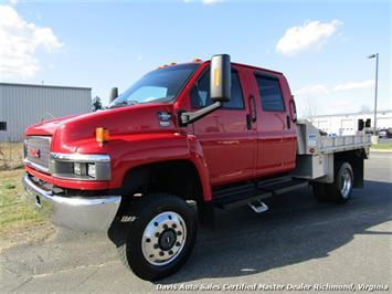 2008 GMC Topkick Kodiak C 4500 4X4 Duramax Diesel 6.6 Dually Crew Cab Hauler Bed Truck