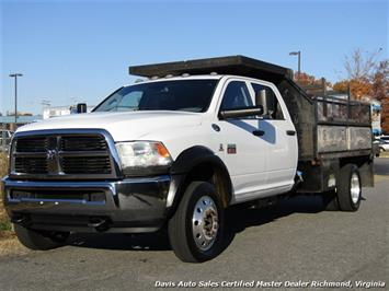 2012 Dodge Ram 4500 HD 6.7 Cummins Diesel 4X4 Crew Cab Flat Bed Work Truck