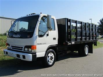 2002 Isuzu NPR Dually Commercial Regular Cab Flat Bed Lift Gate Truck
