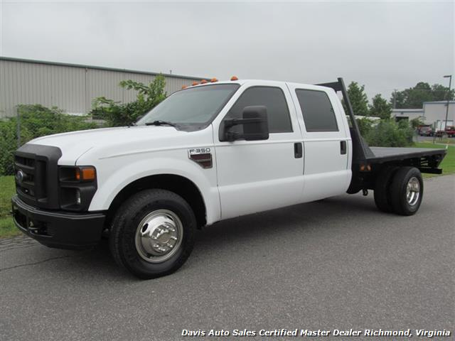 2008 ford f 350 super duty diesel xl crew cab flatbed dually. Black Bedroom Furniture Sets. Home Design Ideas