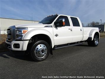 2015 Ford F-450 Super Duty Platinum Pearl White Diesel 4X4 Dually Crew Cab Truck