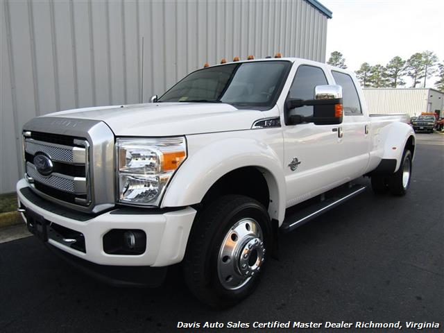 2015 ford f 450 super duty platinum pearl white diesel 4x4 dually crew cab. Black Bedroom Furniture Sets. Home Design Ideas