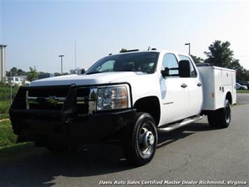 2007 Chevrolet Silverado 3500 HD Duramax Diesel 4X4 Dually Crew Cab Utility Work Bin Body Truck