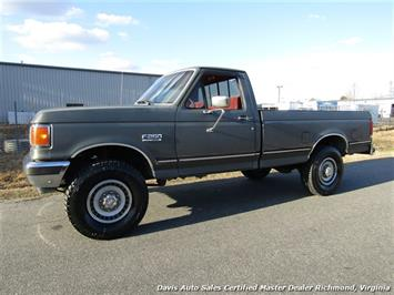 1989 Ford F-250 XLT Lariat 4X4 Regular Cab Long Bed Low Mileage Truck