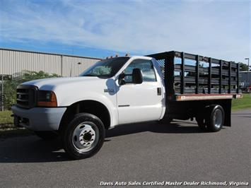 2000 Ford F-450 Super Duty XL Regular Cab 12 Foot Flat Bed Stake Body Truck