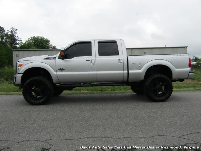 2015 Ford F 250 Super Duty Platinum Diesel 6 7 Lifted 4x4 Crew Cab
