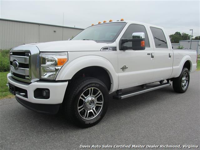 2013 ford f-350 super duty platinum lariat 4x4 crew cab short bed
