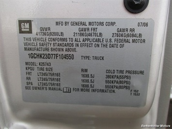 2007 Chevrolet Silverado 2500 LT Crew Cab 4x4 - Photo 32 - Parker, CO 80134