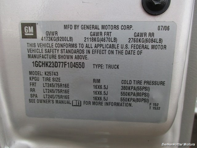 2007 Chevrolet Silverado 2500 LT Crew Cab 4x4 - Photo 32 - Brighton, CO 80603