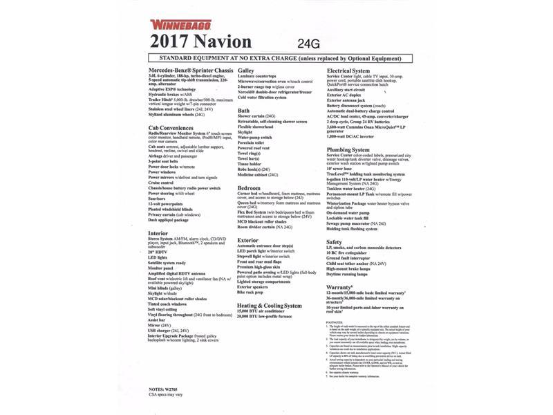 2017 Winnebago Itasca Navion 24G 2-Slides Full Body Paint Diesel - Photo 36 - Thousand Oaks, CA 91360