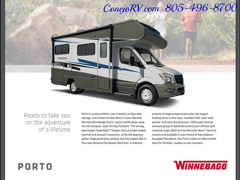 2020 Winnebago Porto 24F Slide-Out Mercedes Turbo Diesel for sale in
